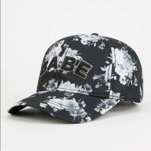 Floral babe dad hat